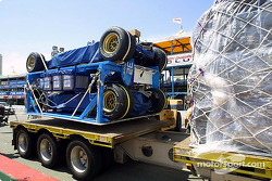 Unloading the airfreight