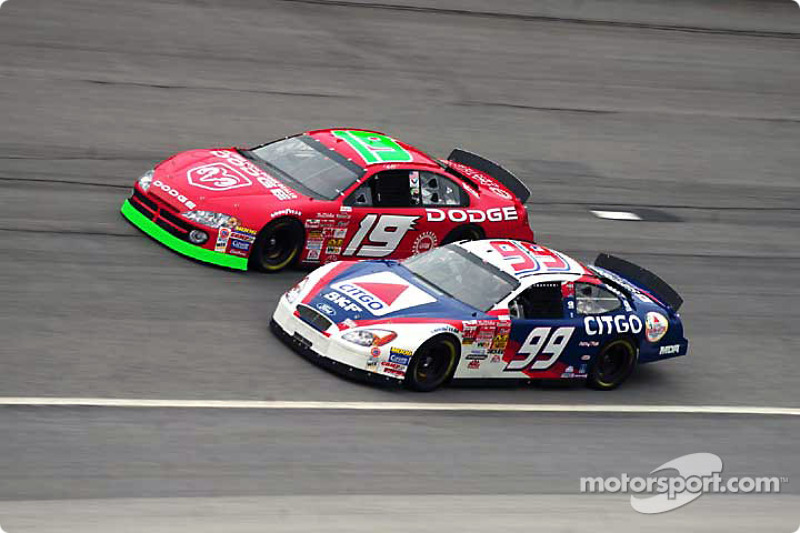 Jeremy Mayfield y Jeff Burton