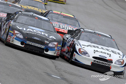 Mark Martin battles with Ryan Newman