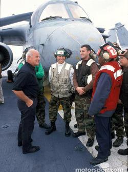 Gary Densham visits the aircraft carrier USS Carl Vincent