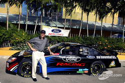 Ford's Dan Davis poses with the NBC Sports No Boundaries Ford