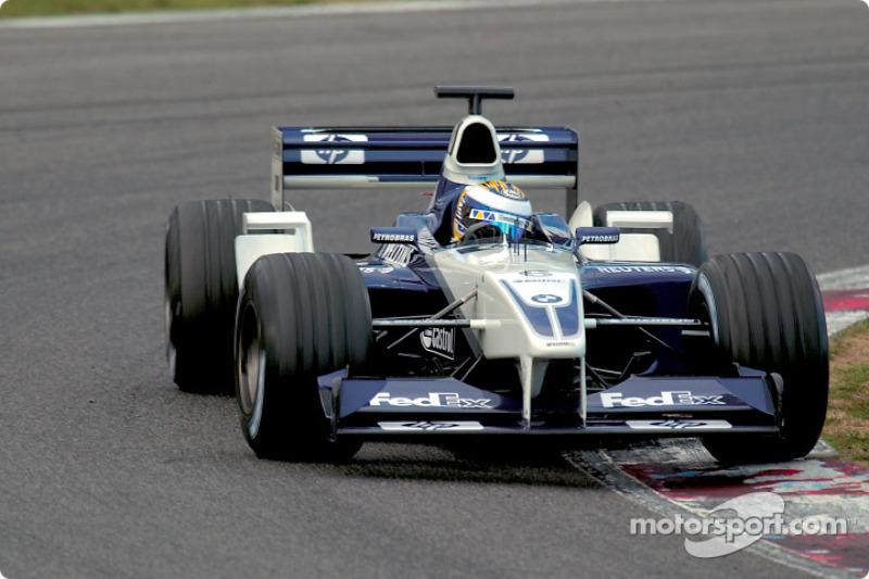 2002年12月:为威廉姆斯车队进行的首场测试