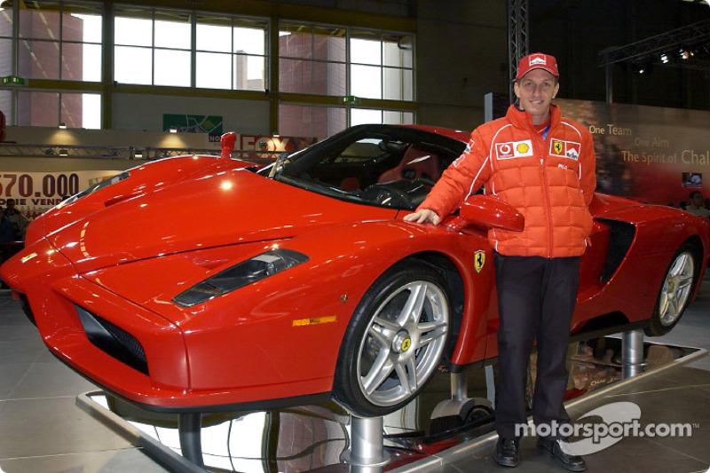 Luciano Burti and the Ferrari Enzo