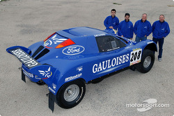 Schlesser Ford X 202 presentation: Jean-Louis Schlesser, Jean-Marie Lurquin, José Maria Servia and Enric Oller-Carbo