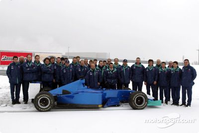Sauber Petronas C22 a la pista