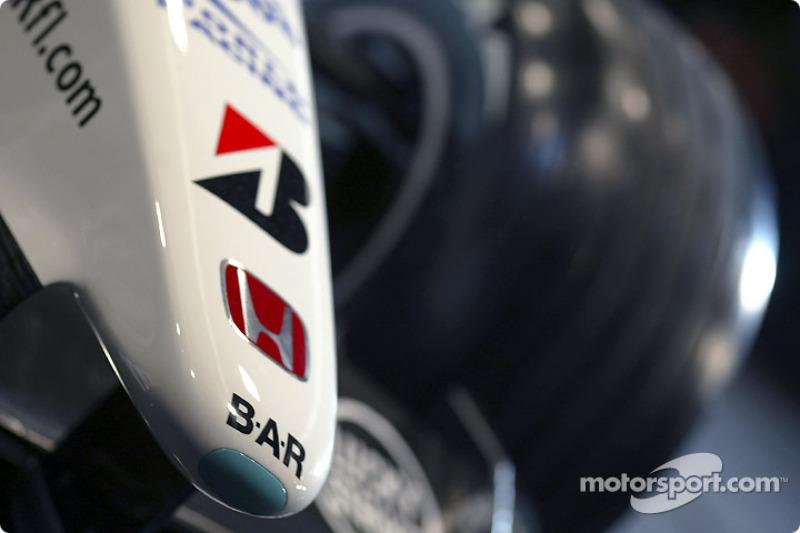 The new BAR Honda 005 nose cone
