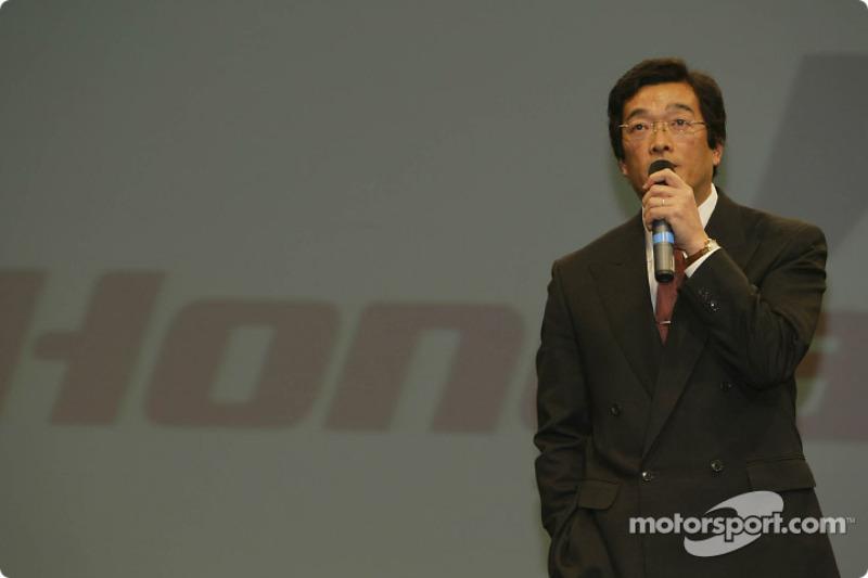 Honda R&D project leader Takeo Kiuchi