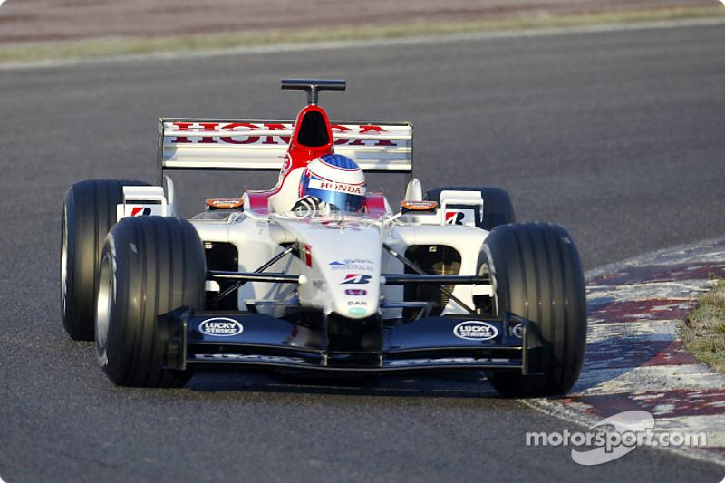 Shakedown for yeni BAR Honda 005: Jenson Button
