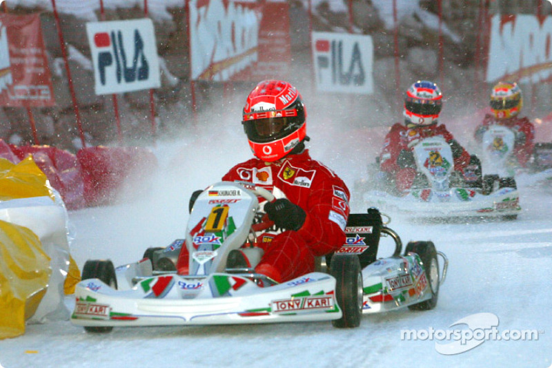 The kart race: Michael Schumacher
