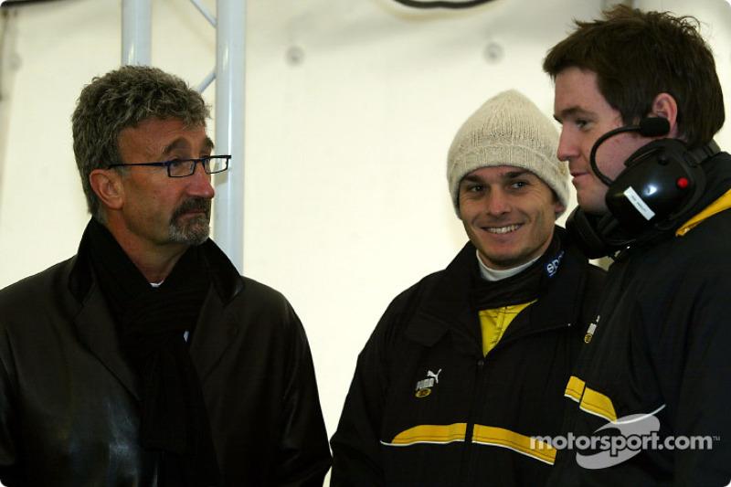 Eddie Jordan and Giancarlo Fisichella