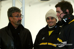 Eddie Jordan and Giancarlo Fisichella