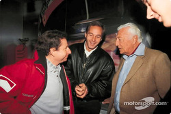 Jean Todt, Gerhard Berger and Gianni Agnelli