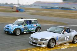 #20 Nuzzo Motorsports Mini Cooper S: Tony Nuzzo, Shane Lewis and #12 TC Kline Racing BMW Z4: Donald Salama, Steve Pfeffer