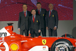 Jean Todt, Paolo Martinelli, Rory Byrne y Ross Brawn
