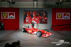 Jean Todt with the new Ferrari F2003-GA
