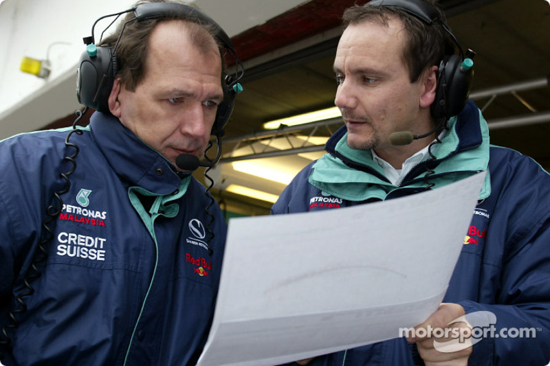 Sauber engineers