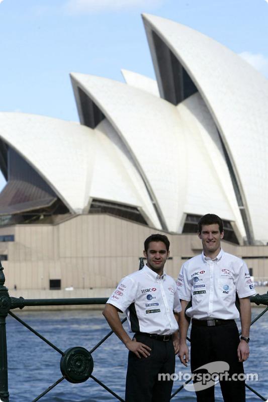 Mark Webber and Antonio Pizzonia visit Sydney