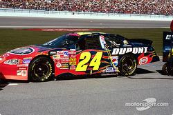 Jeff Gordon's car on the grid