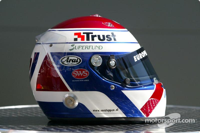 Jos Verstappen's helmet
