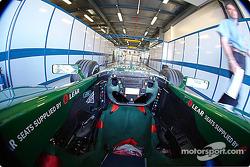 Jaguar at technical inspection