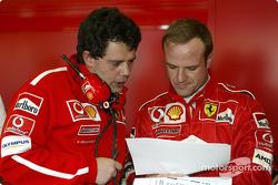Rubens Barrichello and Gabriele Delli Colli
