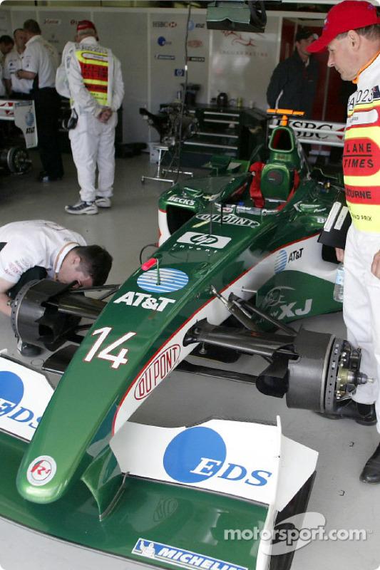 Jaguar garage area