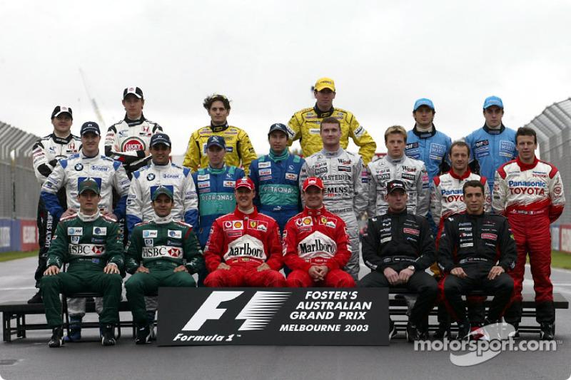 2003 Formula 1 sezonu pilotları