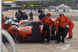 Prodrive Racing pit area