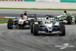 Ralf Schumacher in front of Justin Wilson