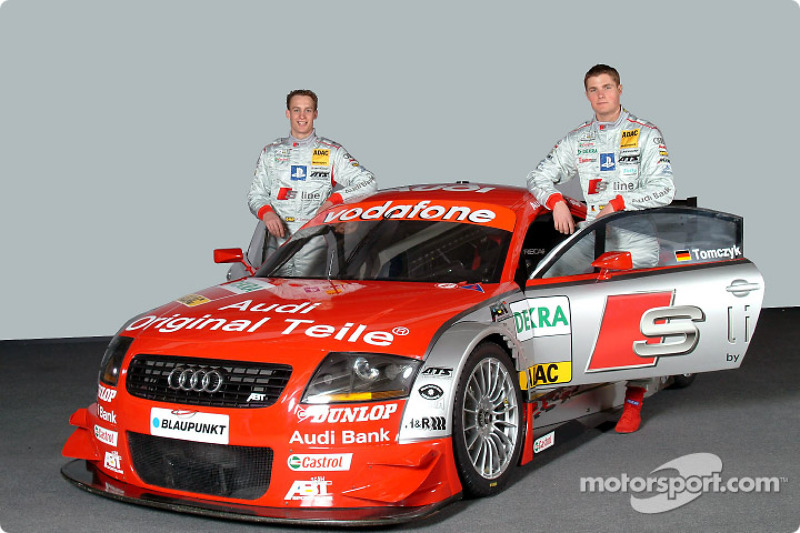 Martin Tomczyk and Peter Terting with the Abt-Audi TT-R of the S line Audi Junior Team