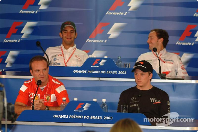 Thursday press conference: Rubens Barrichello, Kimi Raikkonen, Antonio Pizzonia and Cristiano da Mat