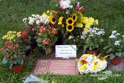 Das Grab von Ayrton Senna Da Silva im Morumbi-Friedhof