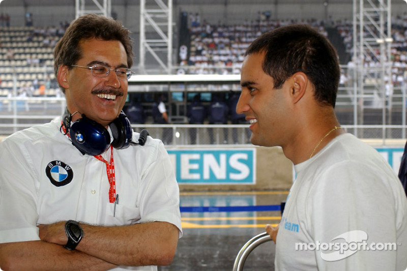 Mario Theissen and Juan Pablo Montoya