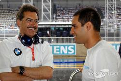 Mario Theissen and Juan Pablo Montoya