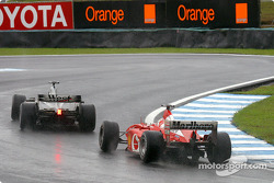 David Coulthard and Rubens Barrichello