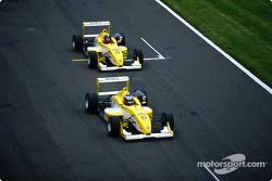 Heikki Kovalainen and Fabio Carbone