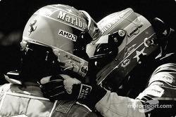Michael Schumacher and Fernando Alonso