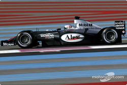 Alexander Wurz teste la nouvelle McLaren MP4-18