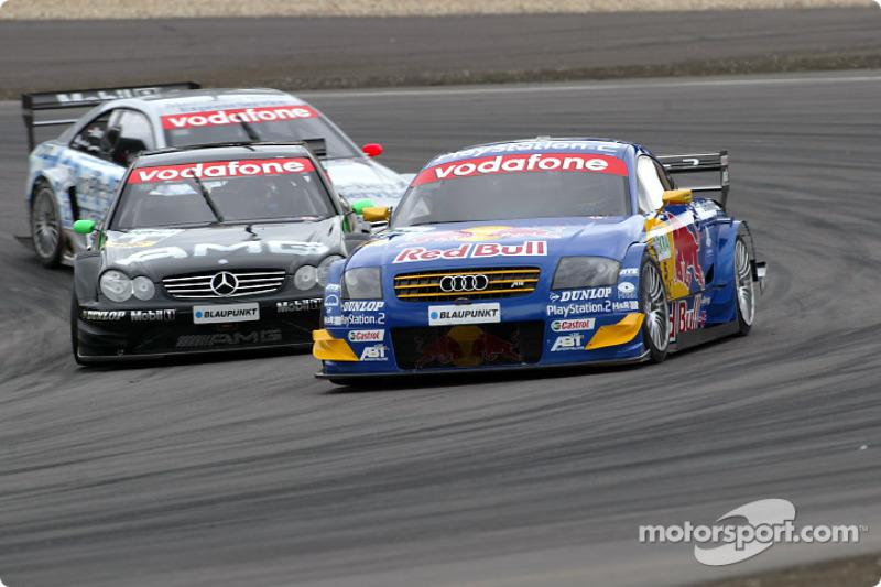 Mattias Ekström and Marcel Fassler fight for the lead