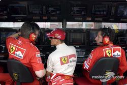 Ross Brawn, Michael Schumacher and Jean Todt