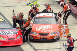A close call in the pits between Tony Stewart and Jeff Gordon