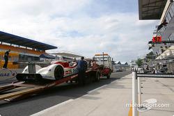 #26 RN Motorsport LTD DBA4-03S-Zytek goes to scrutineering