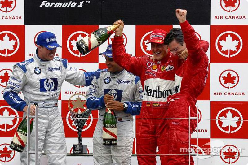 2003. Подіум: 1. Міхаель Шумахер, Ferrari. 2. Ральф Шумахер, Williams-BMW. 3. Хуан-Пабло Монтойя, Williams-BMW