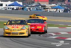 #15 TPC Racing Porsche 996: John Beaver, Jim Haggerty and #50 Michael Baughman Racing Firebird: Ray Mason, Bob Ward