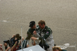 Rinaldo Capello and Tom Kristensen celebrate