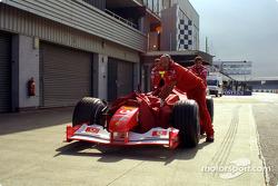 Ferrari team members