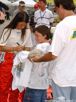Danica Patrick signs autographs