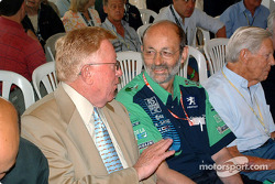 Le Mans awards ceremony: Don Panoz and Henri Pescarolo
