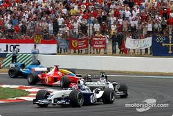 First lap: Juan Pablo Montoya