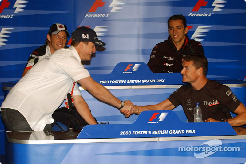 Conferencia de prensa FIA: Ralf Schumacher, David Coulthard, Jenson Button y Justin Wilson